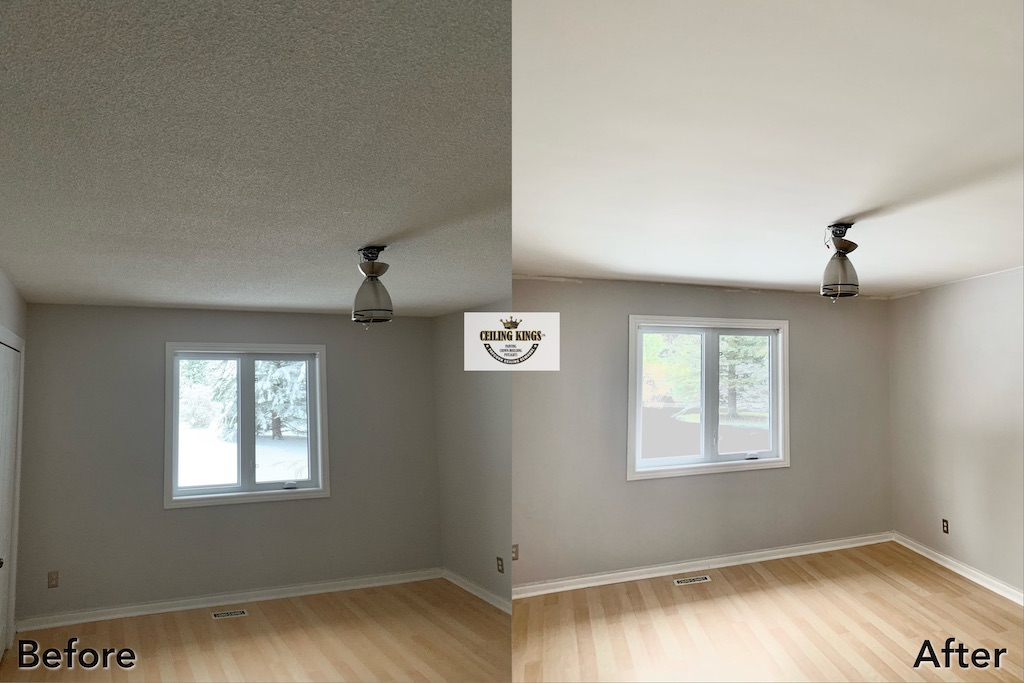 Bedroom Stucco Removal