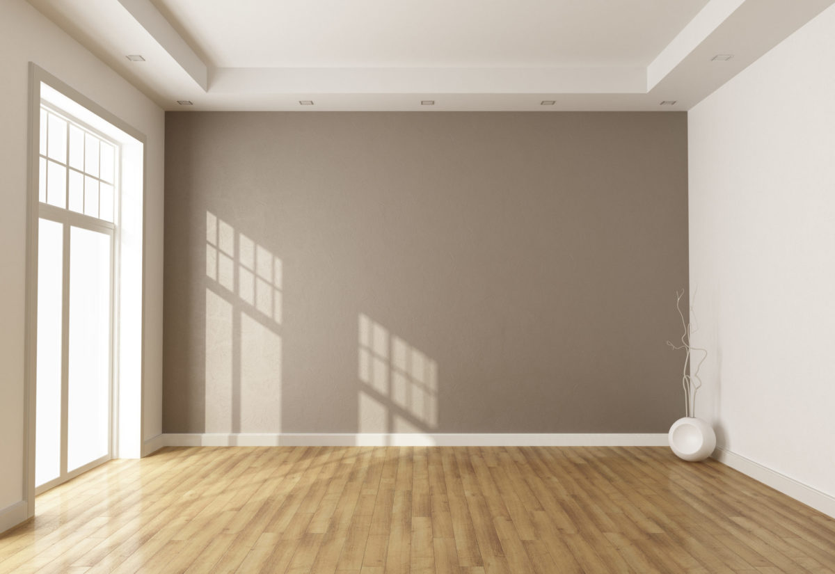 Empty Room with Coffered Ceiling